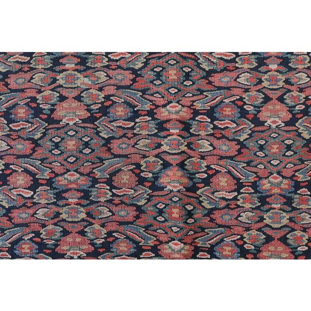 "Antique Senneh Kilim Rug - 4'1"" x 6'2"" - Image 3 of 4"