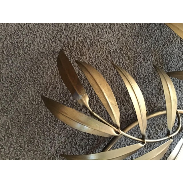 Gold Italian French Wheat Sheaf Wall Sculpture, Italy Last Markdown For Sale - Image 8 of 8