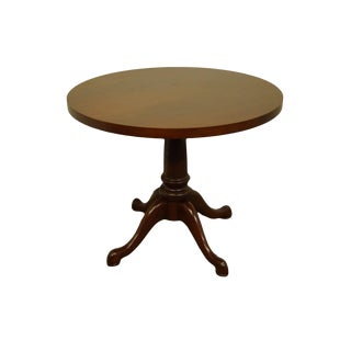 20th Century Traditional Kimball International Solid Cherry Round Piecrust Accent Table For Sale