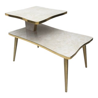 Mid-Century Modern Two-Tier End Table For Sale
