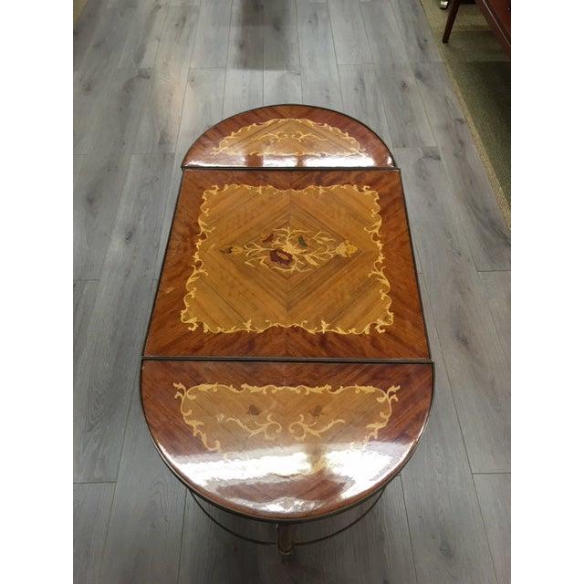 Mastercraft Mastercraft Inlay Wood Three Piece Coffee Table For Sale - Image 4 of 6