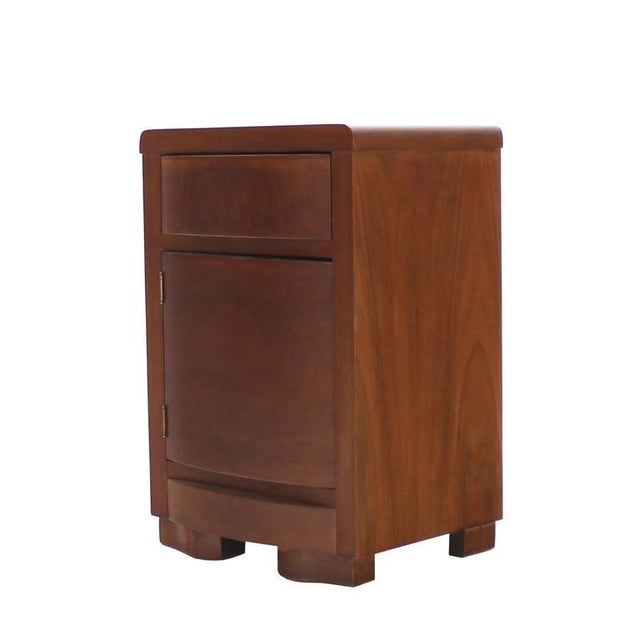 Pair of Art Deco Walnut End Tables Nightstands For Sale - Image 4 of 9