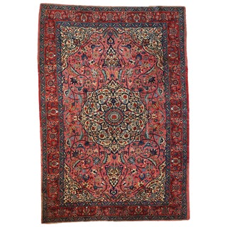 1920s Antique Persian Lilihan Rug- 6′8″ × 10′6″ For Sale