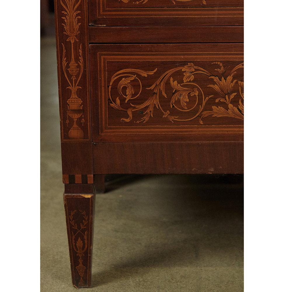 Italian Marquetry Cabinet With Fall Front Bar For Sale In Los Angeles    Image 6 Of