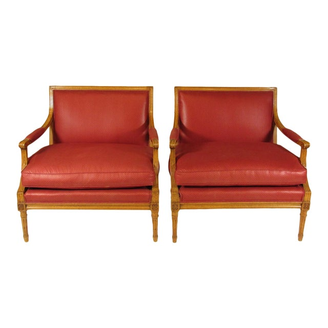 Louis XVI Style Marquis Chairs - a Pair For Sale