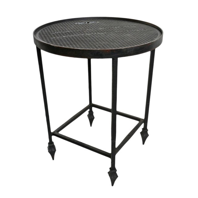 Black Industrial Iron Manhole Table For Sale - Image 8 of 8