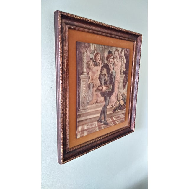 Art Deco Vintage Artini Hand Painted Sculpture Engraved Wall Art For Sale - Image 3 of 13