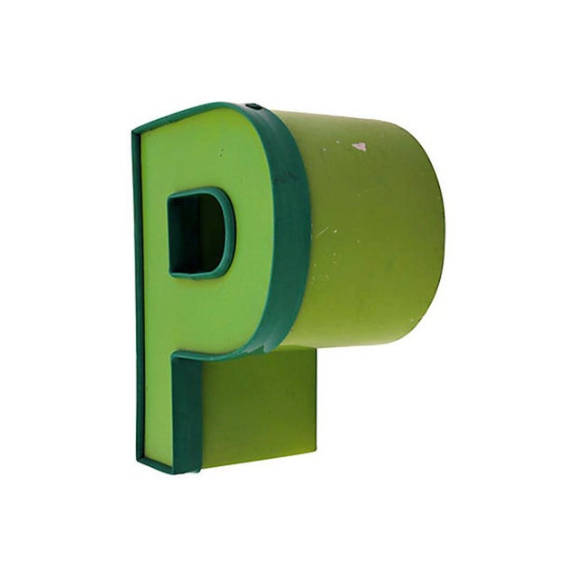 American 1970s Vintage Letter P For Sale - Image 3 of 7