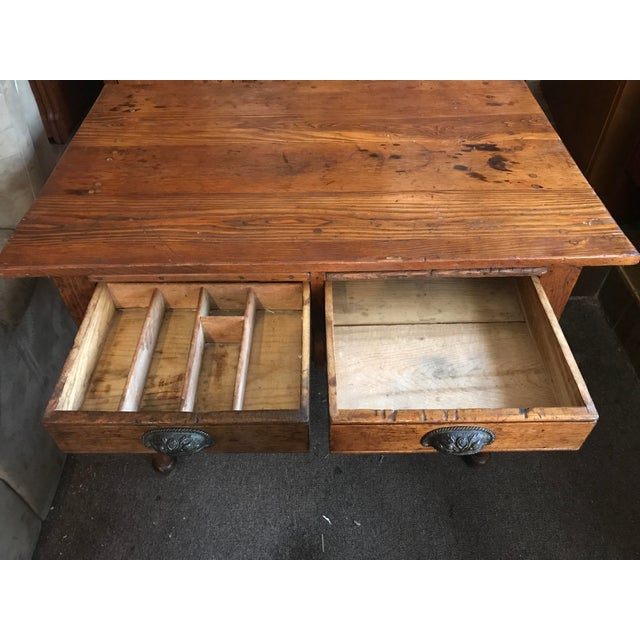 Antique Oak Feed Table For Sale - Image 5 of 8