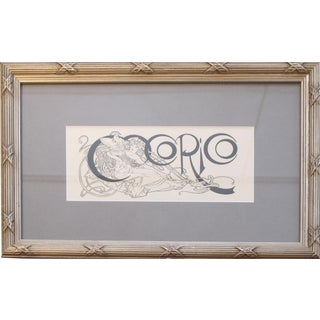 1899 Original Framed Cocorico Masthead - Mucha For Sale
