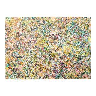 """Monumental Floral Abstract Painting 80""""x60"""" For Sale"""