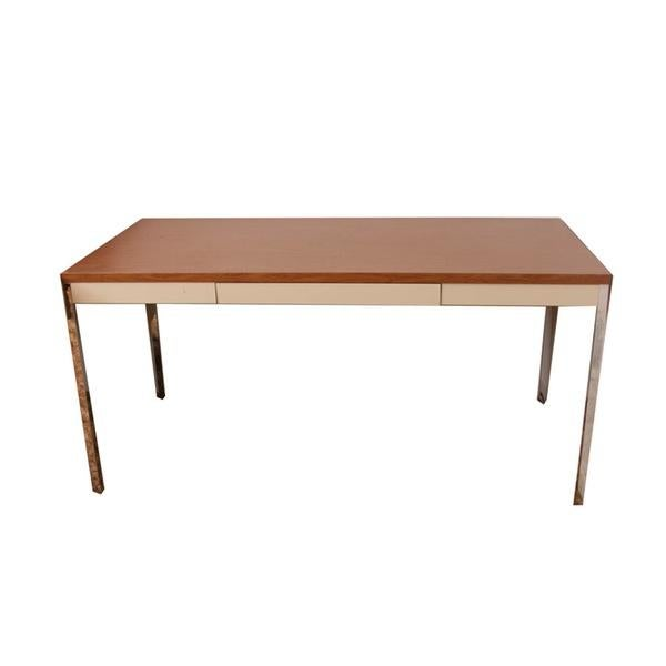 Mid Century Metal and Laminate Desk - Image 1 of 4