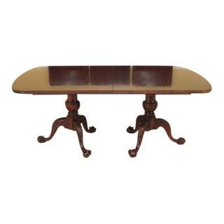 Century Clawfoot Mahogany Dining Room Table