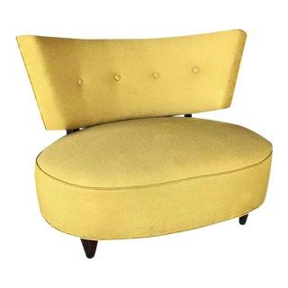 1960s Mid-Century Modern Gilbert Rohde Style Yellow Club Chair