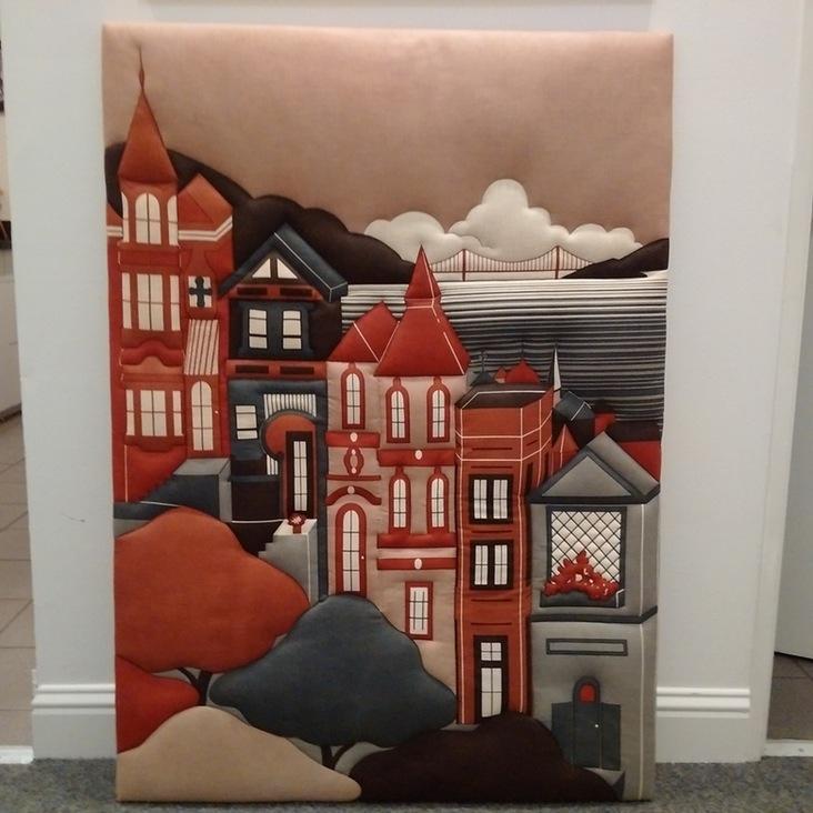 Shelley Winsor Hand Printed San Francisco Scene   Image 2 Of 7