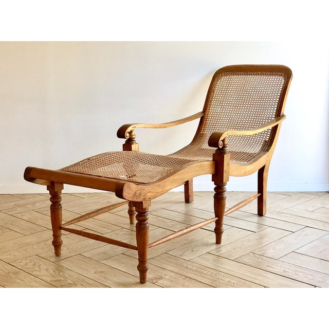 British Colonial Early 20th Century Antique Bauer Plantation Chaise Lounge For Sale - Image 3 of 13