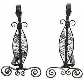 Black Swan Andirons - A Pair For Sale