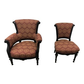 Antique His & Hers Chairs - a Pair
