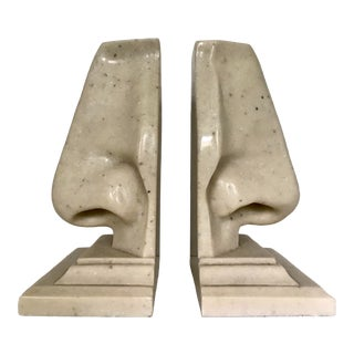 Cast Stone Nose Bookends For Sale