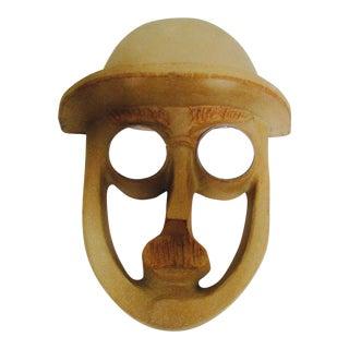 David Gil Head Face Wall Sculpture Modernist Mid Century Modern Bennington Vermont Pottery For Sale