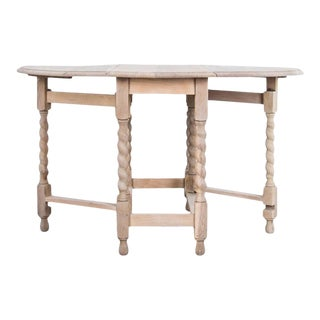 1920s Antique Oak Gate Leg Table For Sale