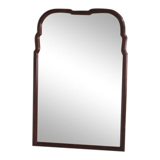Hickory Chair Co. Mahogany Tombstone Shaped Mirror For Sale