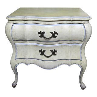 French Provincial Louis XV Style Two-Drawer Nightstand