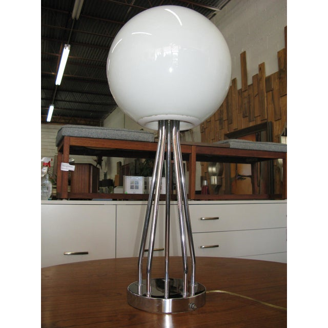 Mid-Century Modern Chrome Table Lamp - Image 10 of 11