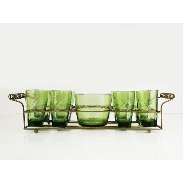 Vintage Bar Caddy With Ice Bucket - Set of 9 For Sale - Image 5 of 6