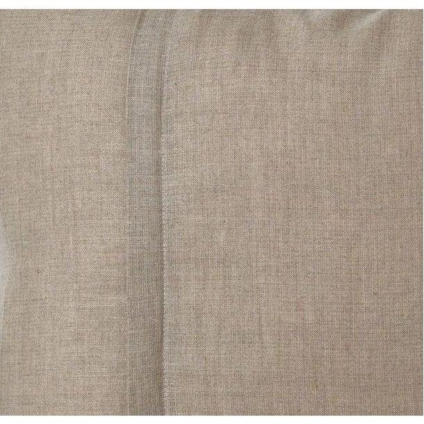 Graphite & Cream Ikat Silk Velvet Pillow - Image 3 of 3