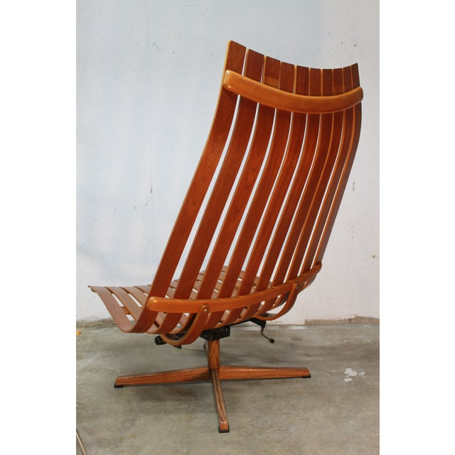 Hans Brattrud Scandia Lounge Chair & Ottoman For Sale - Image 5 of 11