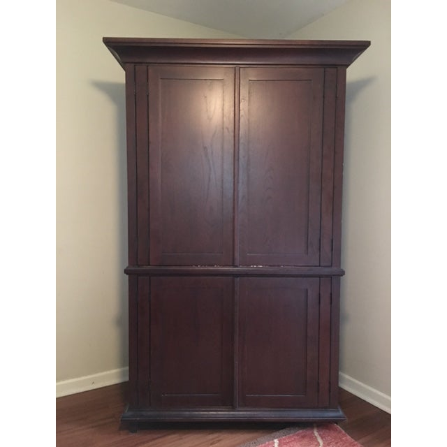 Pottery Barn Solid Wood Entertainment Cabinet / Armoire - Image 2 of 5