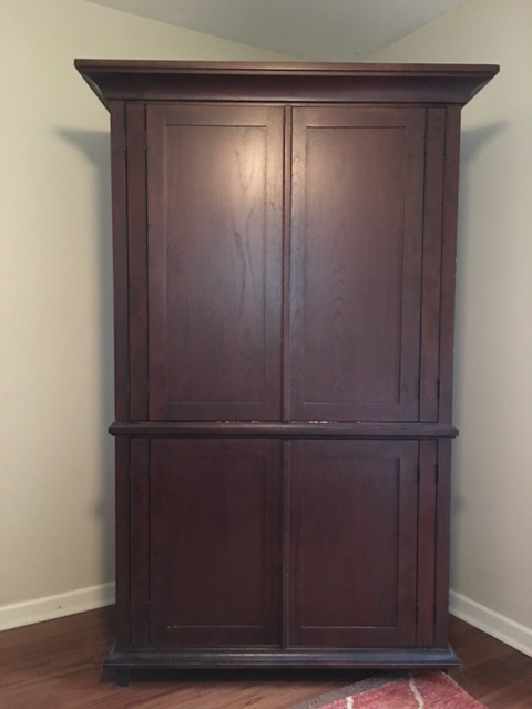 Ordinaire Pottery Barn Solid Wood Entertainment Cabinet / Armoire   Image 2 Of 5