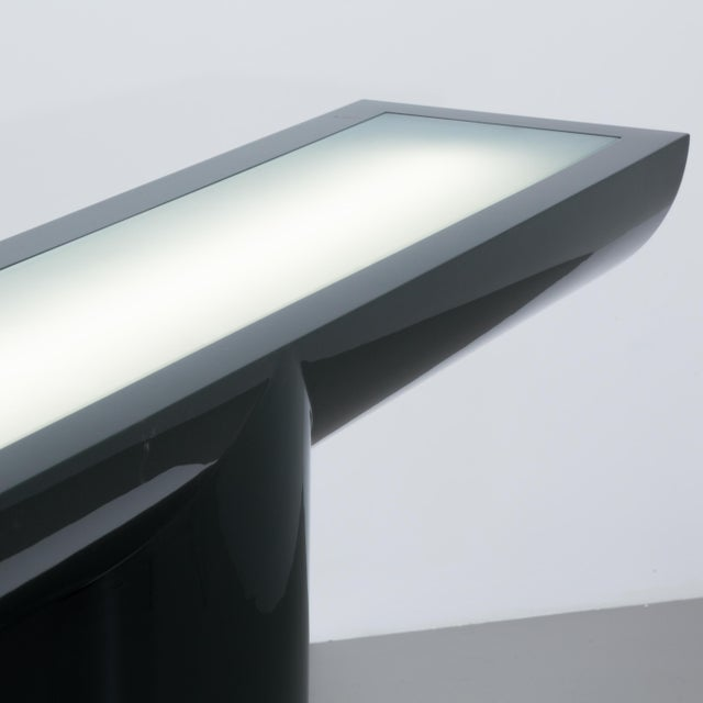 A Lacquered Cantilevered Console Lightbox 1970s - Image 7 of 10