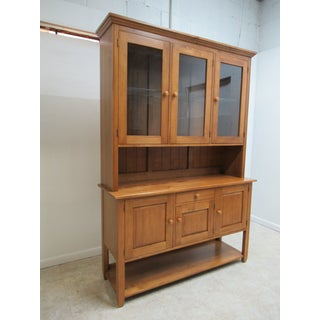 1990s Country Ethan Allen Color China Cabinet Preview