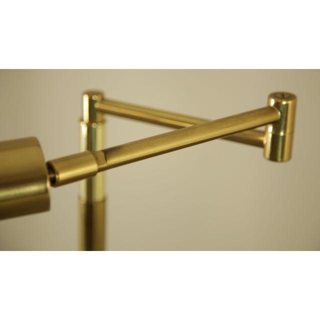Koch & Lowy OMI Vintage Brass Pair Swing Arm Floor Lamps For Sale - Image 9 of 12