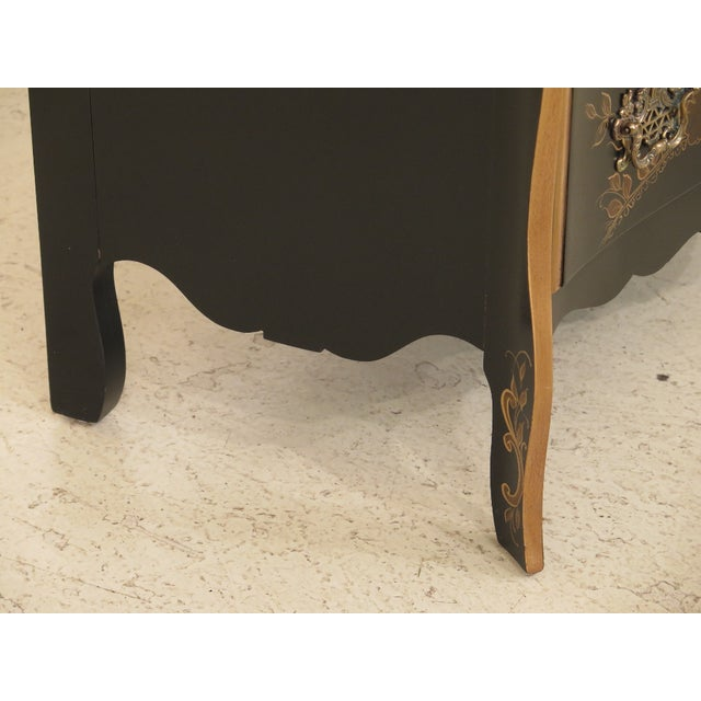 Black 1990s Vintage Chinoiserie Decorated French Inspired Commode For Sale - Image 8 of 12