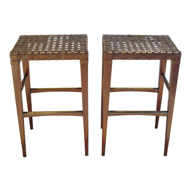 Artistica Milo Backless Barstools -- A Pair For Sale