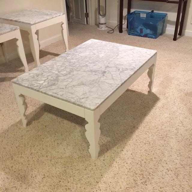 Arhaus Marble Coffee Table - Image 2 of 5
