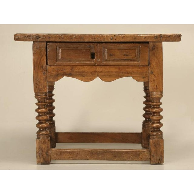 Antique Spanish Walnut End Table - Image 9 of 10