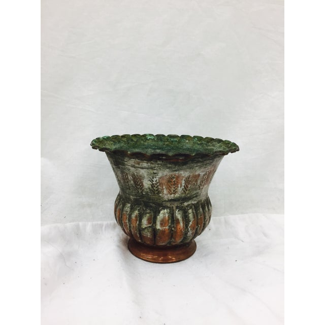 Antique Indian Etched Copper Vase For Sale - Image 9 of 10