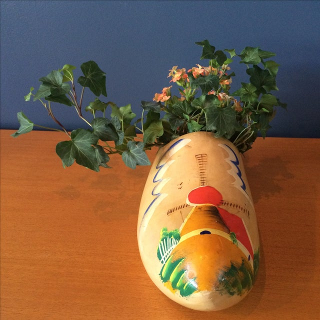 Dutch Wood Clog Planter - Image 4 of 6