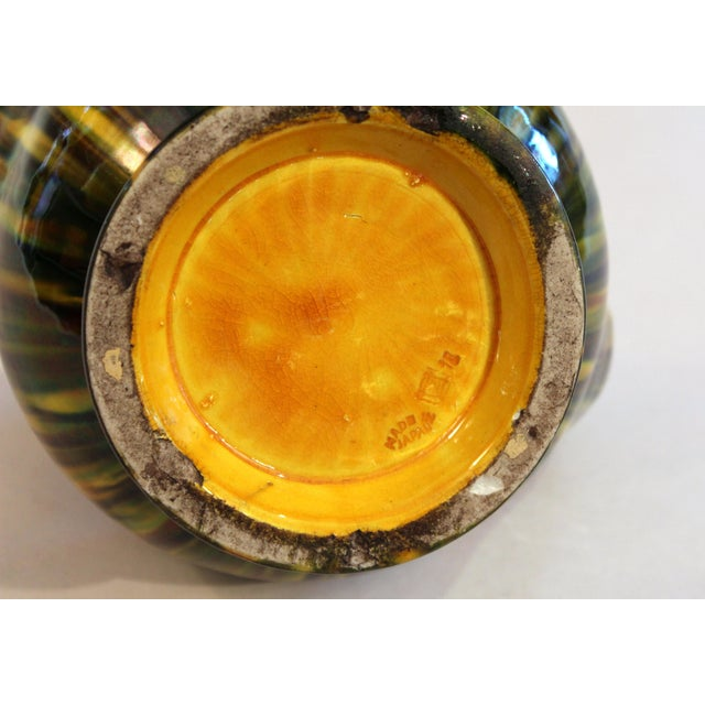 "Awaji Vintage Japanese Studio Pottery Yellow Flambe"" Muscle"" Vase For Sale In New York - Image 6 of 10"