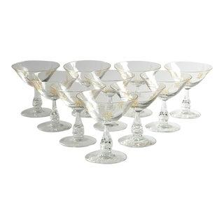 1950s Vintage Tiffin-Franciscan Cocktail Glasses - Set of 10 For Sale