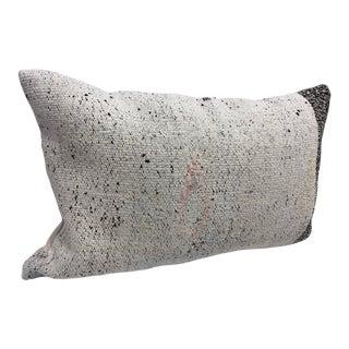 Vintage Turkish Kilim Handmade Lumbar Pillow Cover For Sale