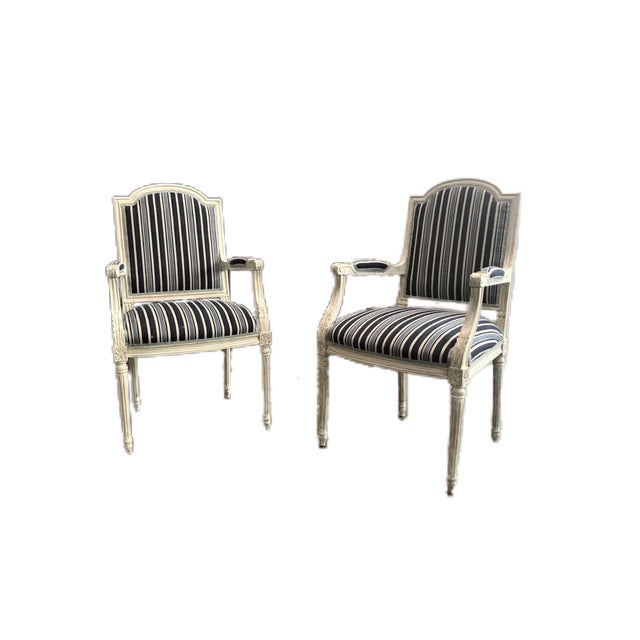Wood Late 19th Century Neoclassical Armchairs - a Pair For Sale - Image 7 of 7