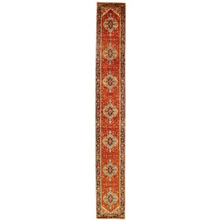 """Traditional Pasargad N Y Fine Serapi Design Hand-Knotted Rug - 2'8"""" X 19'9"""""""