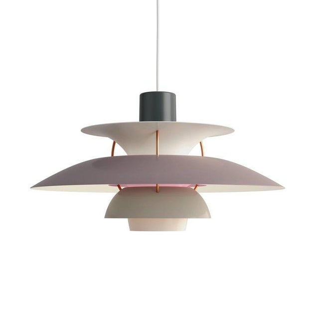 Poul Henningsen Ph 5 Pendant for Louis Poulsen in Red For Sale In Los Angeles - Image 6 of 13