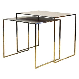 Two Elegant Nesting Tables by Michael Kirkpatrick for Decca Bolier Collection For Sale