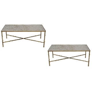 Contemporary Glostrup Metal Coffee Tables - a Pair